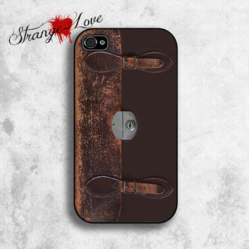 iPhone 5 & 4 / 4s case  Vintage Leather by StrangeLoveTees on Etsy