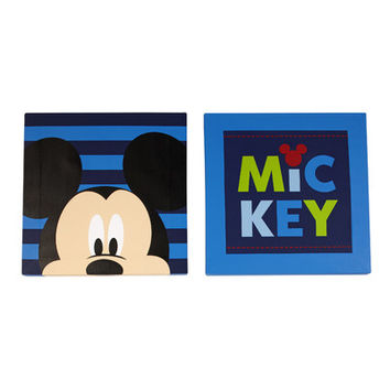 Disney Baby Mickey Mouse Canvas Art (Set of 2) & Reviews | Wayfair