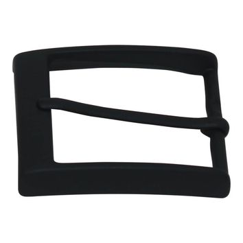 40 mm Italian Solid Brass Belt Buckle with Black Finish