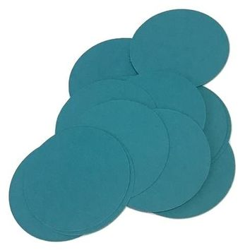 """Teal green 2"""" circle card stock paper confetti"""