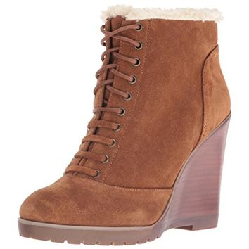 Jessica Simpson Womens Kaelo Faux Fur Lined Faux Fur Wedge Boots