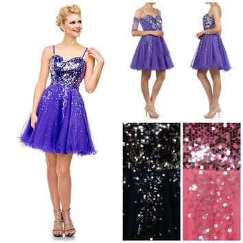 The Emma Prom Formal Sequin Bead Embellished Dress Gown