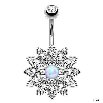 ac PEAPO2Q Holy Lotus Navel Piercing Belly Button Rings Industrial Piercing