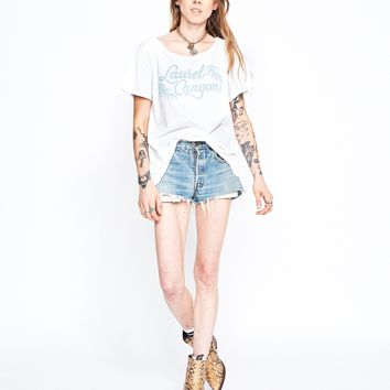 Laurel Canyon Boyfriend Tee - Bright White