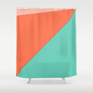 Golden Idea Shower Curtain by Ducky B