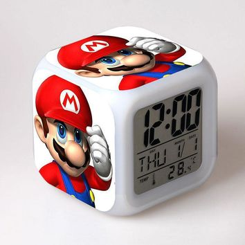 Super Mario party nes switch  Bros Child Funny Clock Alarm Yoshi Dinosaur Figure Toy  Yoshi Action Figure PVC Funny toys for Children AT_80_8