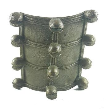 African Charms / Akan gold Weight - Shield Form 2 / Trinket, unique good luck charm / Akan people old curency / African art