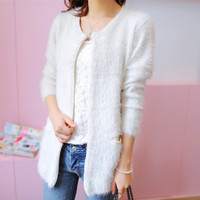 2016 Women Spring & Autumn Knitted Dress Sweater Lady's Long Casual Sweater Cardigan