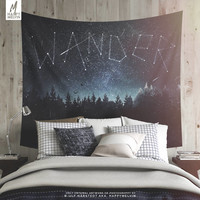 Its written in the stars - Wall tapestry - Tapestry - Wall hanging - Wanderlust - Nature - Boho - Stars - Home decor - Wall decor - 3 sizes.