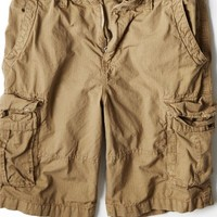 "AEO Men's 12"" Ripstop Cargo Short (Wheat Khaki)"