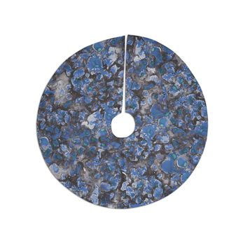 "Danii Pollehn ""Camouflage"" Blue Gray Watercolor Tree Skirt"