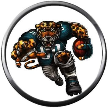 NFL Jacksonville Mean Game Face Jaguars Football Game Lovers Team Spirit 18MM - 20MM Fashion Jewelry Snap Charm
