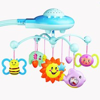 Baby Crib 0-12 Months Mobile Musical Bell Star Projection Hanging Bell Mobile For Baby Cribs Mobile On The Bed Toy For Newborns