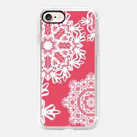 Flurries on Coral iPhone 7 Case by Lisa Argyropoulos | Casetify