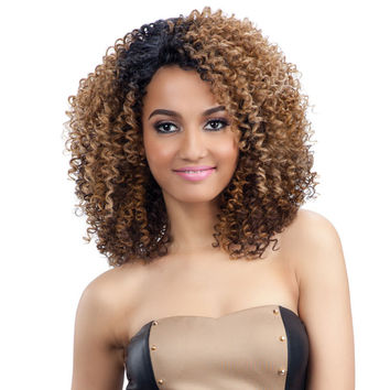 MODEL MODEL SYNTHETIC HAIR DEEP INVISIBLE DIAGONAL PART WIG DARLINE