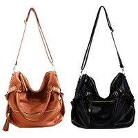 New Style Tassel Leather Handbag Shoulder Bag