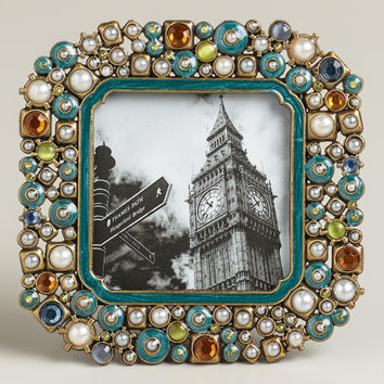 Small Turquoise Beaded Kinsey Frame - World Market