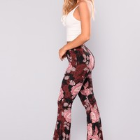 Holly Printed Pants - Black/Pink