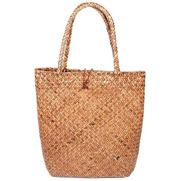 Beach bags Straw Wove Tote vintage