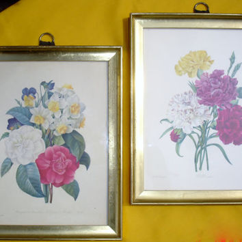 P.J. Redoute Floral Pictures set, named Langlois and Victor