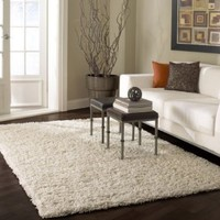 nuLOOM SHG1-406 Bobo Shag Collection 100-Percent Polypropylene Area Rug, 4-Feet by 6-Feet, Shag, White