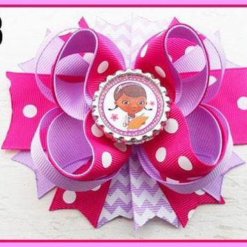 CHARACTER BOTTLE CAP HAIR BOWS - #23