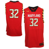 Under Armour Maryland Terrapins #32 Replica Basketball Jersey - Red