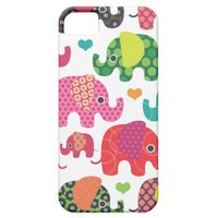 Colorful elephant kids pattern iphone case iphone 5 cover from Zazzle.com