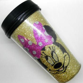 Glitter Minnie Mouse Travel Mug