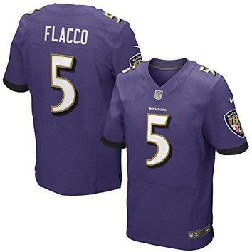 Joe Flacco Baltimore Ravens Nike Purple Authentic Elite Stitched On Field Jersey Men's 48/ Xl (x Large)