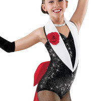 Sequin Tuxedo Leotard and Bow; Weissman Costumes