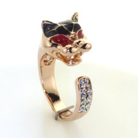 Rose Gold Wild Cat Ring