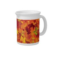 Autumn Leaves Patterns Pitcher