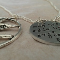 Hunger Games Hand stamped Necklace