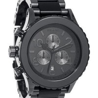 Nixon 42-20 Chrono Watch Gunmetal/Black Acetate, One Size