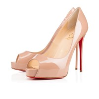 Best Online Sale Christian Louboutin Cl New Very Prive Nude Patent Leather 120mm Stiletto Heel Ss15