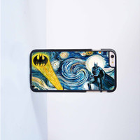Batman with Stary Night Plastic Case Cover for Apple iPhone 6 Plus 4 4s 5 5s 5c 6