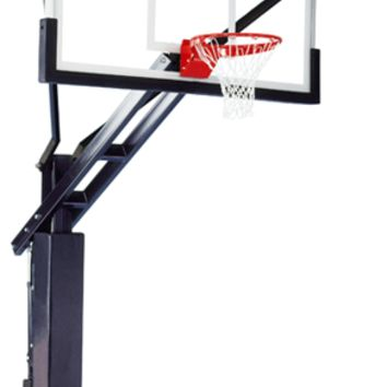Ironclad Sports Full Court XXL In Ground Outdoor Adjustable Basketball Hoop 72 inch Tempered Glass