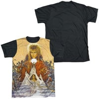 LABYRINTH/COVER ART-S/S ADULT WHITE FRONT BLACK BACK  -WHITE-XL