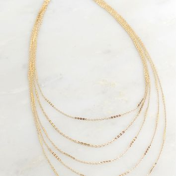 Love Connection Choker Gold