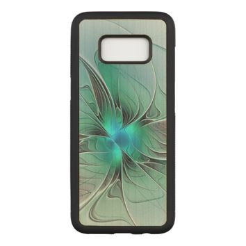 Abstract With Blue, Modern Fractal Art Carved Samsung Galaxy S8 Case