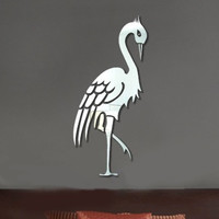 Mirror Cartoons Animal Decoration Relief Sculpture Wall Sticker [6283175750]