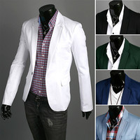 Slim Fit Men's Fashion Blazer