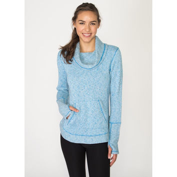 Stratus Slub Fleece Insulated Cowl Neck Sweater