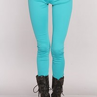 Aqua Stretchy Fit Button Fly Closure Jeggings