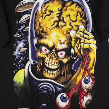1996 MARS ATTACKS t shirt - vintage 90s - tim burton movie - aliens