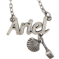 Disney The Little Mermaid Ariel Nameplate Necklace