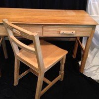 1960's Ranch Oak Desk & Chair