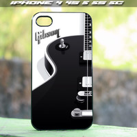 Gibson Guitar Black and White design for iPhone 4/4s , iPhone 5/5s, iPhone 5c and samsung galaxy s3 s4 Case