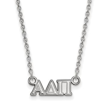 Sterling Silver Alpha Delta Pi XS Necklace